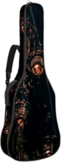 EGGDIOQ Guitar Bag Pendant Lights Gig Bag Dual Adjustable Shoulder Strap & Pocket Acoustic Guitar Case Oxford Guitar Backpack