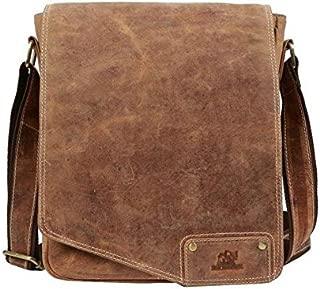 TUZECH Unisex Full Flap Regular Use Leather Satchel Messenger Bag - Fits Laptop (13 inches)
