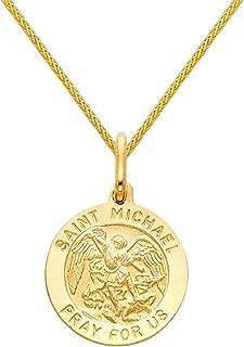 saint michael gold charm