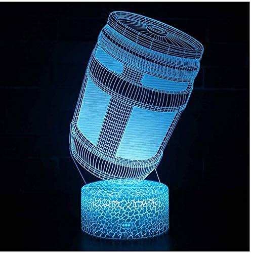 ZZZLamp Magiclux Neuheit Beleuchtung 3D Illusion LED Lampe Festung Nacht Energy Drink Design Nachtlichter für Kinder Schlafzimmer Dekoration