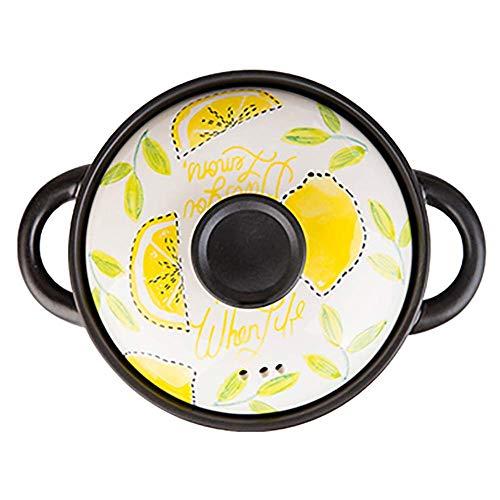Japonaise Claypot riz soupe en céramique Pot Casserole DishHousehold Gas Safe Petit Cocotte braisière Citron 2,5 litres Xping (Color : Lemon, Size : 2.5 Litre)