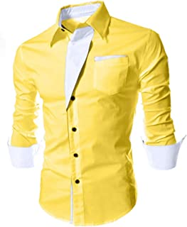 Gadgets Appliances Men's Fashion Casual Fit-Solid Shirt with Watch