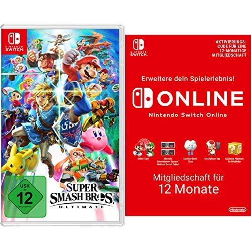 Super Smash Bros. Ultimate [Nintendo Switch] + Switch Online 12 Monate [Download Code]