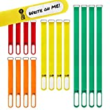 Wrap-It Storage Cinch-Straps (Assorted 16 Pack) Features Stainless Steel Buckle and Write on Label for Easy Cord Identification and Cable Management, Reusable Multi-Purpose Securing Cinch Straps