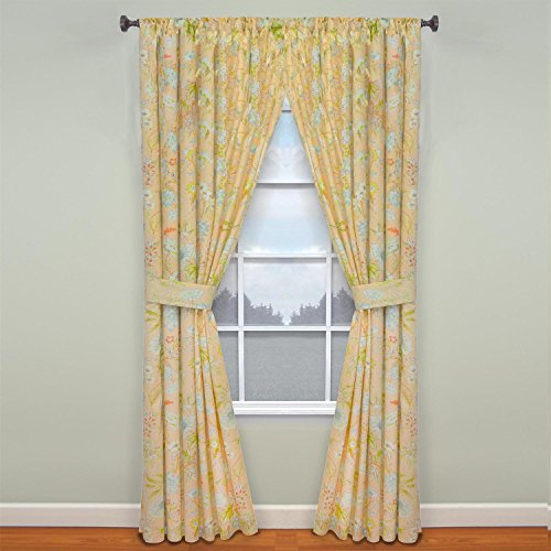 """WAVERLY Fashion Curtains for Bedroom-Cape Coral 84"""" x 100"""" Rod Pocket Double Panel Privacy Window Treatment Living Room"""