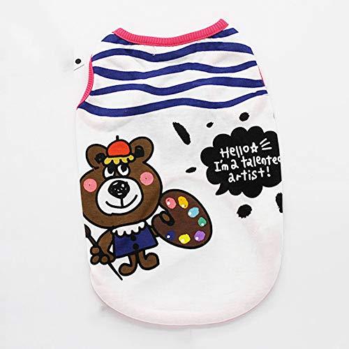 TINGYIN Vêtements Pour animaux domestiques T-Shirt Vêtements Pour animaux de compagnie, Petit Chien, Chat et Chat , bleu , XXS