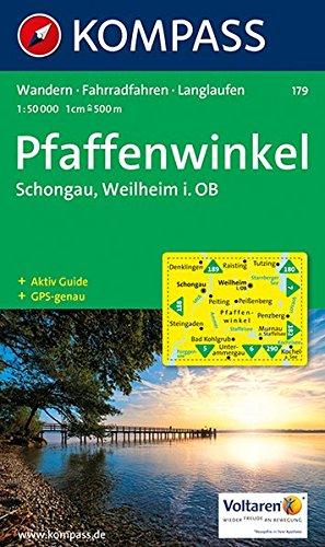 Pfaffenwinkel, Schongau, Weilheim in Oberbayern: Wandern / Rad / Langlauf. GPS-genau. 1:50.000