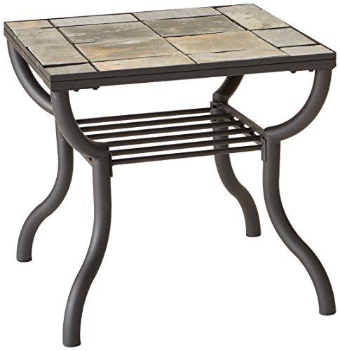 Hot Sale Signature Design by Ashley Contemporary Slated Square Living Room End Table