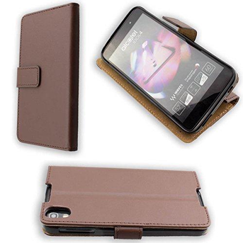 caseroxx Handy Hülle Tasche kompatibel mit BlackBerry DTEK50 Bookstyle-Hülle Wallet Hülle in braun