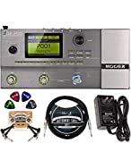 MOOER GE200 Multi Effects Pedal with Amp Modeling Bundle with 9V Power Supply, Blucoil 10-FT Straight Instrument Cable (1/4in), 2-Pack of Pedal Patch Cables, and 4-Pack of Celluloid Guitar Picks