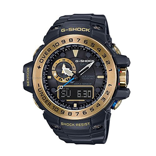 Casio Mens Multi Zifferblatt Solar Uhr mit Harz Armband GWN-1000GB-1AER