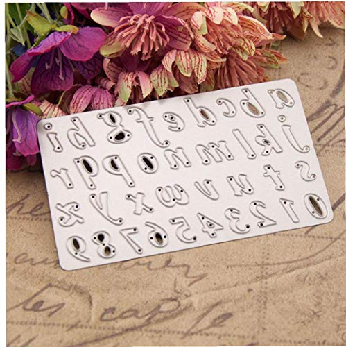 LAVALINK Metal Cutting Die Number Capital Letter Punching Template Diy Cutting Tool Hand Embossing Paper Card Scrapbook Metal Die Cutting Decoration
