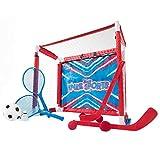 Franklin Sports Indoor Mini Goal Knee Sport Combo Set - Knee Hockey, Shootout, Knee Volleyball, Knee Badminton, Soccer & Target Toss - 6-in-1 Goal Combo Set