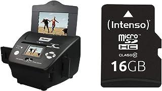 Rollei PDF S 240 SE   Multiscanner für Fotos, Dias und Negative, sekundenschneller Scanvorgang, inkl. Bildbearbeitungssoftware   Schwarz & Intenso Micro SDHC 16GB Class 10 Speicherkarte