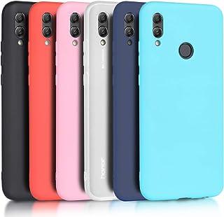 Wanxideng - 6X Funda Huawei P Smart 2019 / Honor 10 Lite, Carcasa Suave Mate en Silicona TPU, Soft Silicone Case Cover [ Negro + Blanco Translúcido + Rojo+ Rosado+ Menta Verde + Azul Claro ]