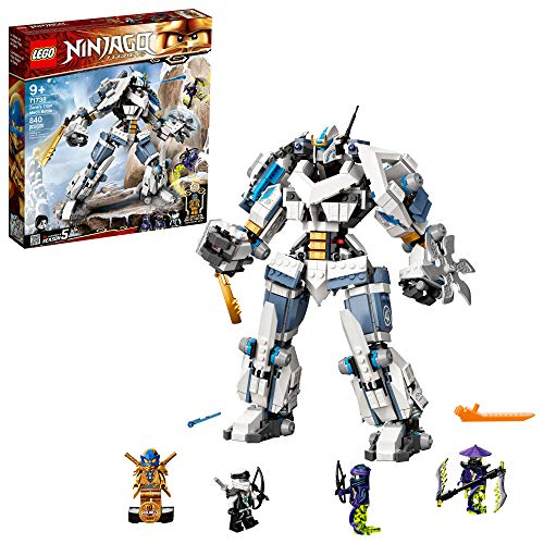LEGO NINJAGO Legacy Zane's Titan Mech Battle 71738 Ninja Toy Building Kit Featuring Collectible Minifigures, New 2021 (840 Pieces)