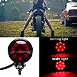 Motorcycle Tail Light Red 8 LED Stop Lamp Compatible With Chopper Bobber Cafe Racer Bike