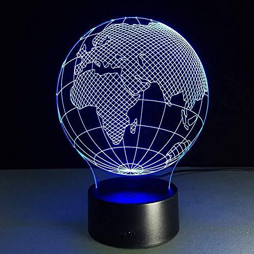 Europa en Afrika wereldkaart LED-verlichting met 3D-lamp voor tafellamp, staande lamp, huistafellamp voor kinderen, 3D