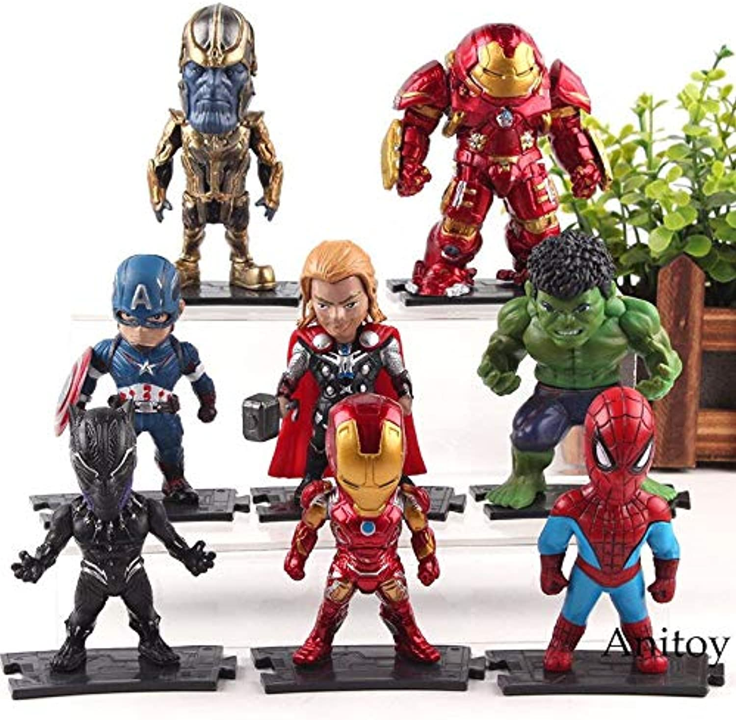 Marvel Avengers Infinity War Action Figures Thanos Hulk Hulkbuster Captain America Thor Iron Man Black Panther Spiderman Toys  Marvel Legends SpiderMan  Teen Titans Toys