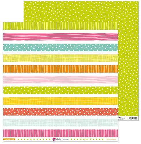 Anita y Su Mundo Colección Me Organizo Papeles de Scrapbooking, Paper, Tiras, 30.5 x 30.5 cm