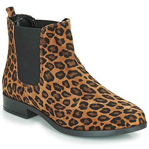 André Elegante Botines/Low Boots Mujeres Leopardo - 37 - Botas De Caña Baja Shoes