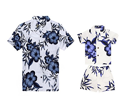 Camisa a Juego con pantalón de Vestir para Hombre, Hijo de Hawaiian Luau Camisa Boy con...