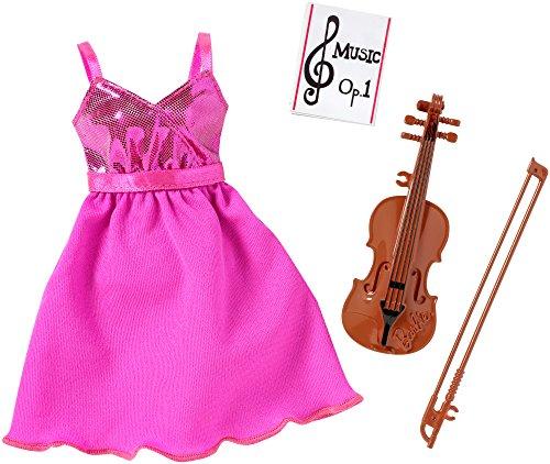 Barbie - Vestido de muñeca con violín, Color Rosa (Mattel DNT94)