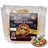 15 Pizzabasis Klassische neapolitanische, vorgekochte italienische Pizza Basis in einem Holzofen, Pizza in 4/7 Minuten im Ofen fertig, vorgekochte kalabrische Pizza (15 Pizzabasen mit 275 Gramm)