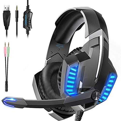 Gaming Headset, Bass Surround Ps4 Headset, Noise Reduction Xbox One Headset...