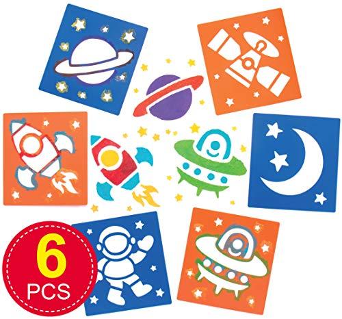 """Baker Ross Schablonen """"Sonnensystem"""" für Kinder – für Bastelarbeiten und Dekorationen (6 Stück)"""