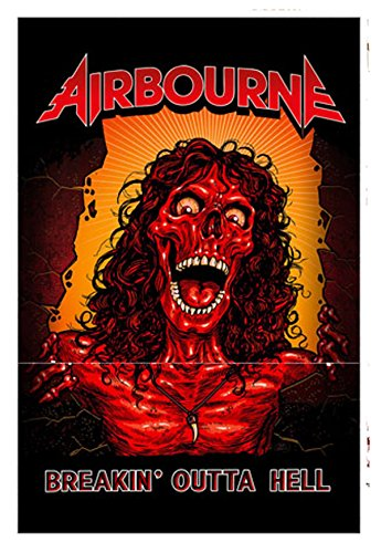 AIRBOURNE BREAKIN' OUTTA HELL Flagge/ Flag