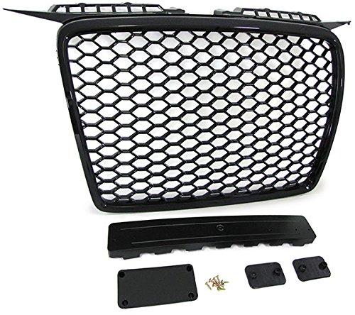 Carparts-Online 21225 Sport Kühlergrill Waben Grill schwarz glänzend