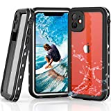 YOGRE for iPhone 11 Waterproof Case, IP68 Heavy Duty Shockproof Snowproof Dirtproof Cover Case, Full-Body Rugged Clear Case with Built-in Screen Protector for iPhone 11 (6.1 Inch, White&Clear)