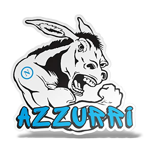 erreinge Sticker Napoli Azzurri Ciuccio Ultras Supporters Adesivo Sagomato in PVC per Decalcomania Parete Murale Auto Moto Casco Camper Laptop - cm 10