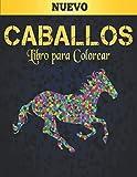 Caballos Libro para Colorear: Libro de Colorear Aliviar el Estrés 50 Diseños de Caballos de una cara Libro de colorear para adultos Regalo para amantes de los caballos Libro de colorear para adultos