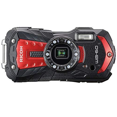 RICOH WG-60 Red, Professional Waterproof Digital Camera, 14 Meters (14 m), Waterproof, Shockproof, Dustproof, Cold Resistant, High Definition 16 Million Pixels, Equipped with Mermaid Mode, For Work