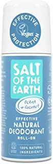 Salt Of the Earth Natural Deodorant Roll On, Ocean & Coconut - Vegan, Long Lasting Protection, Leaping Bunny Approved, Mad...