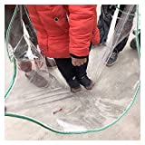 LIXIONG Lonas Impermeables Transparente, PVC Impermeable Funda con Ojales para Jardín Cubierta, 300 g / M2, Tamaños Personalizados (Color : Claro, Size : 3x4m)