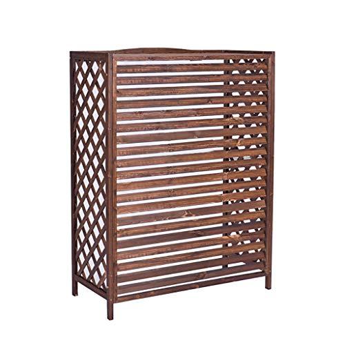 Vrijstaand Houten Bloemenstandaard Airconditioning Hout Behoud Airconditioning Frame Decoratieve Radiator Cover Display Stand Plant Bloempot 43.31 * 19.69 * 57.09in