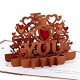 Hallmark Signature Paper Wonder Wood Pop Up Valentines Day Card (All My Heart)