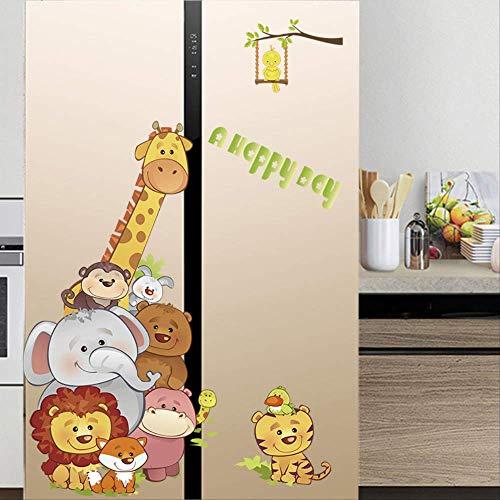 Creatieve Dubbele Sticker Decoratie Koelkast Deur Keuken Sticker Volledige Plak Cartoon Grote Airconditioning Sheet Kan Zelfklevende verwijderen