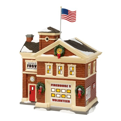 Department 56 The Snow Village Firehouse No. 5