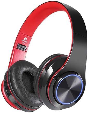 ALMD Cuffie luminescenti con Cuffie mobili Bluetooth Wireless, Cuffie Pieghevoli per Cuffie Stereo, telefoni cellulari da Corsa, Cuffie Bluetooth Rosso e Nero - Trova i prezzi più bassi