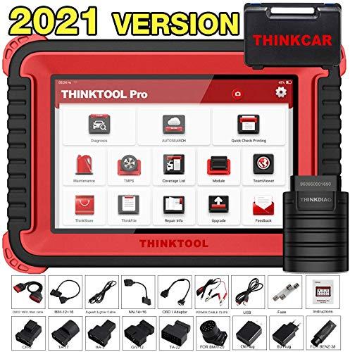 thinkcar thinktool pro obd2 Diagnosegerät Auto Bidirektionales Vollsystem, Auto diagnose scan Tool für alle Fahrzeuge, ECU-Codierung, bidirektional, 31-Reset-Funktion, Codeleser