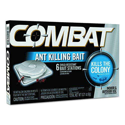 Combat 45901CT Combat Ant Killing System, Child-Resistant, Kills Queen & Colony, 6 Per Box (Case of 12 Boxes)