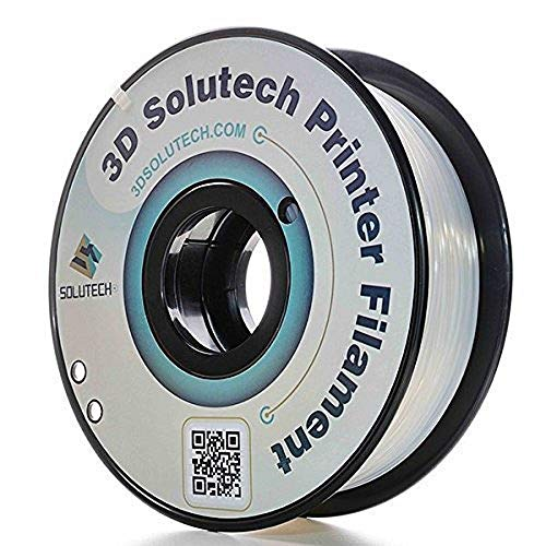 3D Solutech ST175CLPLA Natural Clear 1.75mm 3D Printer PLA Filament, Dimensional Accuracy +/- 0.03 mm, 2.2 LBS (1.0KG), Silver