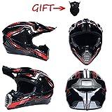 OLEEKA Casco de moto ultraligero Racing ATV Cross Country Full Face Casco de moto Cartoon Bike Helmet