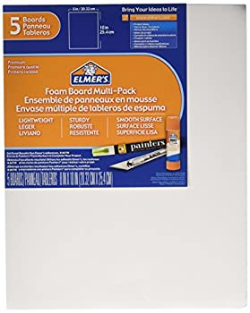 Elmer s Foam Board Multi-Pack 8 x 10 Inches 3/16 Inch Thickness White 5 Count