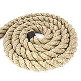 DQ-PP CUERDA DE YUTE | Longitud 10m | Grosor 40mm | Cuerda de Fibra 100% Natural Marrón | Cuerdas decorativa | Decoracion de bricolaje | Macramé | Accesorios de Jardin