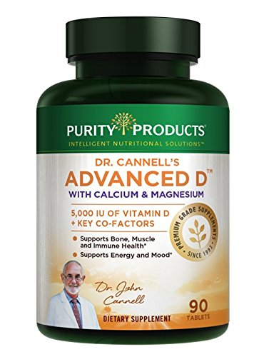 Dr. Cannell's Advanced D with Calcium & Magnesium   Purity Products   Packed with Magnesium, Magnesium Citrate, Zinc, Boron, Taurine   Bone Density Support with Vitamin D*   90 Tablets
